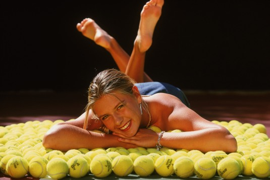 Maria Sharapova on Barefoot Beauties