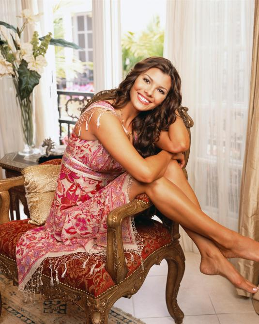 Ali Landry red dress showing her feet toes arches